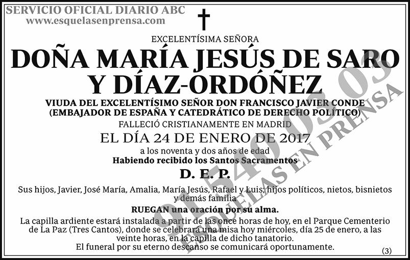 María Jesús de Saro y Díaz-Ordóñez